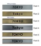 Tokyo Clock Name Plate |World Time Zone City Wall clocks Sign custom Plaque